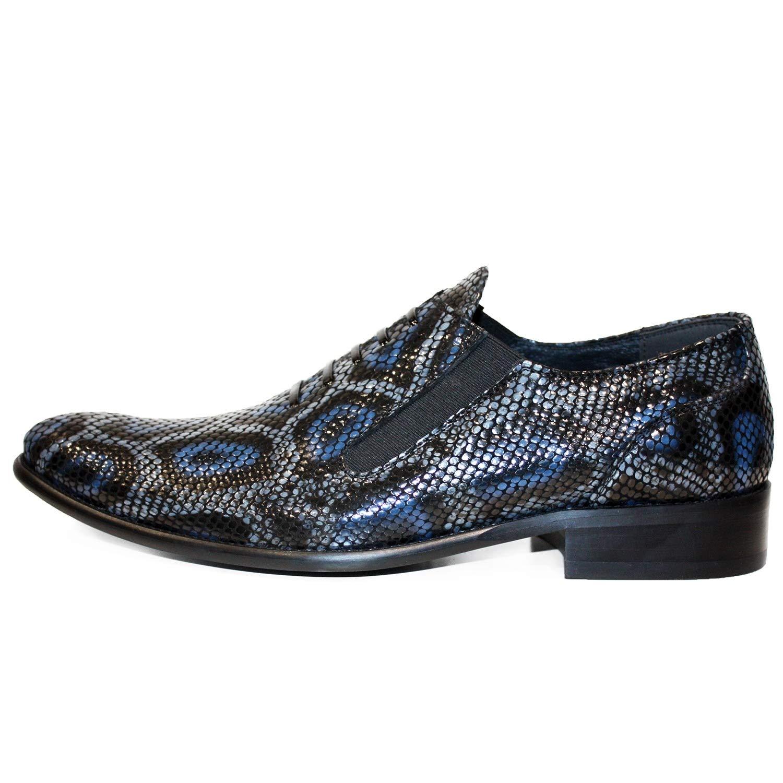Modello Genoblo - Cuero Italiano Hecho A Mano Hombre Piel Gris Mocasines y Slip-Ons Loafers - Cuero Cuero Repujado - Ponerse: Amazon.es: Zapatos y ...