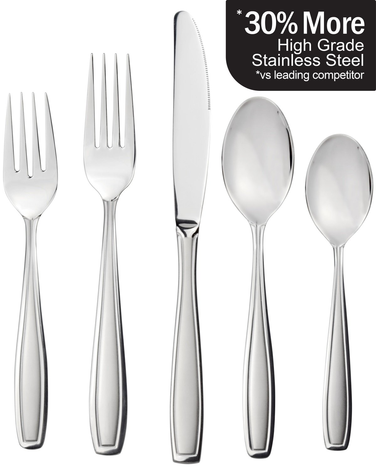 Radley & Stowe 20-Piece Flatware Solid Stainless Steel Silverware Set (Designer Grade with Matte Finish Handle)