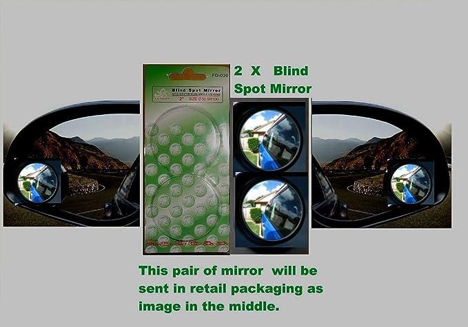 2x Angled Blind Spot Mirror Towing Reversing Driving Self-Adhesive Car Van Bikes