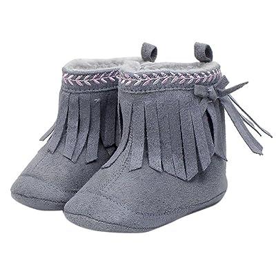 Amiley Toddler Infant Newborn Baby Girl Shoes Soft TasselSnow Boots Prewalker