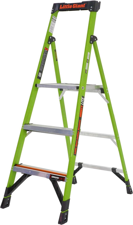 Little Giant 15365EN-001 Mightylite - Escalera gigante (LED, 1,5 m), color verde: Amazon.es: Bricolaje y herramientas