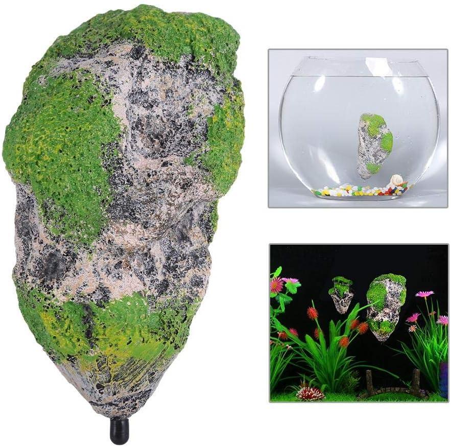 HEEPDD Floating Moss Rocks Resin Stone Decorations Artificial Suspended Rock Fish Tank Decoration Aquarium Fishtank Ornament Landscape S