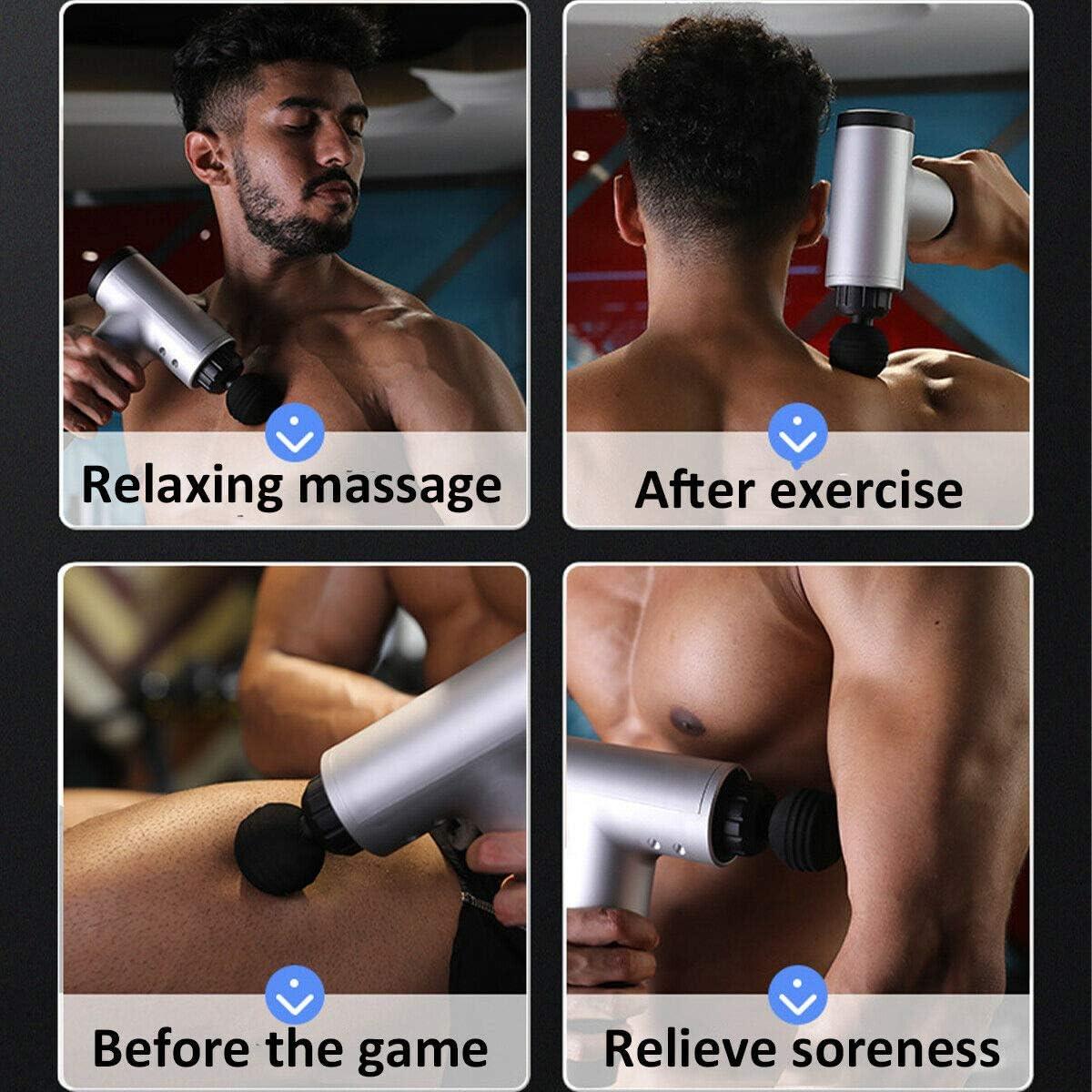 LCD Screen Gear Display Electric Muscle Relaxer Vibration Massager TIAS Muscle Massage Gun 6-Speed Hand-Held Deep Tissue Muscle Massager