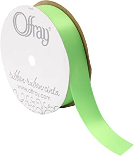 "product image for Offray Double Face Satin Ribbon, 7/8"" Wide, 20 Yards, New Chartreuse"