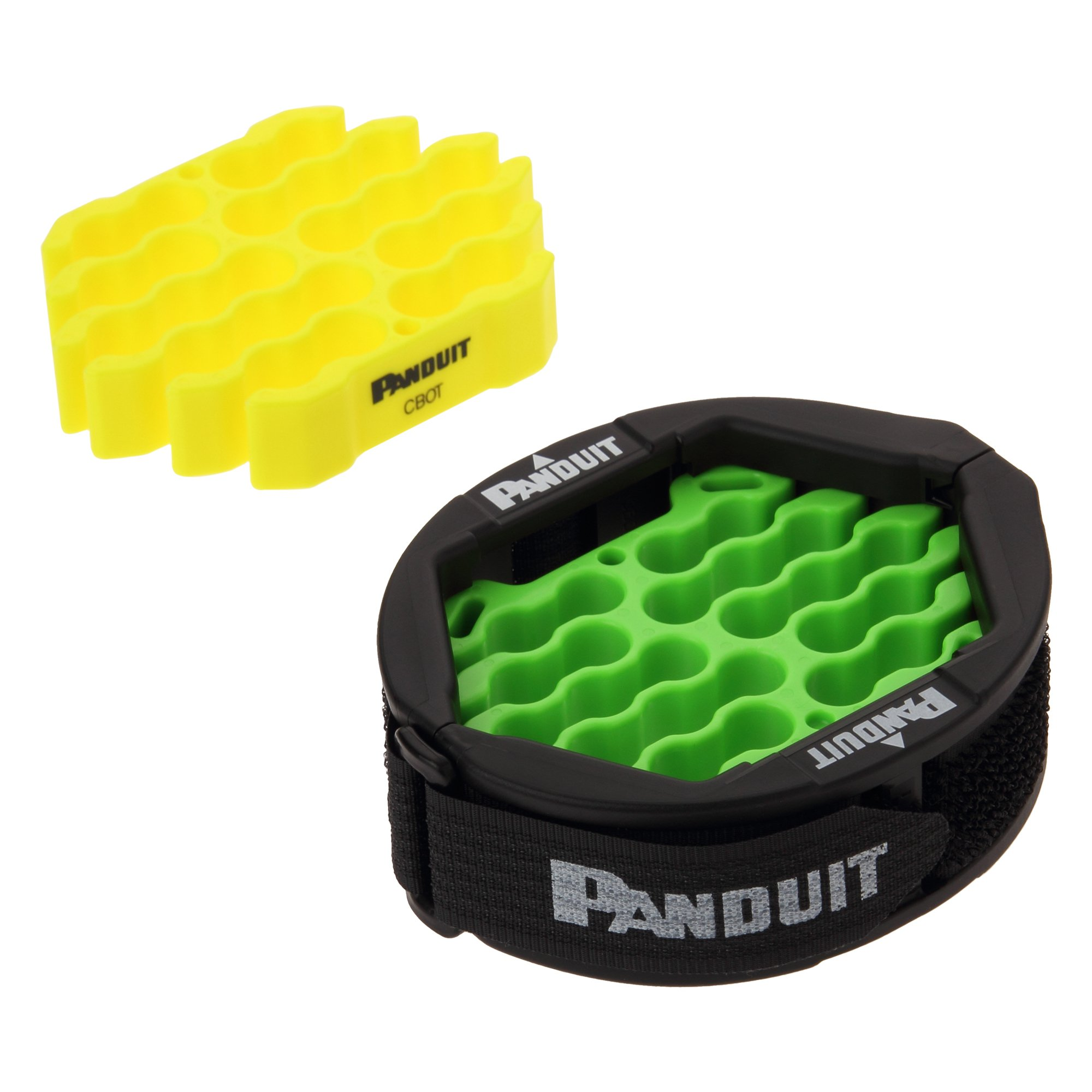 Panduit CBOT24K Cable Organizing Kit, Tool Kit Includes: Jacket Cover, Hook and Loop Fastener, Green Cable Organizing Insert, Yellow Cable Organizing Insert