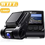 "Blusmart Dash Cam, Full HD 1080P Dashboard Camera, WDR Driving Recorder with WiFi, 170° Angle Lens, 2.45"" IPS Display, Loop Recording, G-Sensor, and Night Vision, Supports 32GB Micro SD Card"