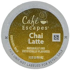 Cafe Escapes CHAI LATTE 48 K-Cups for Keurig Brewers (Original Version)