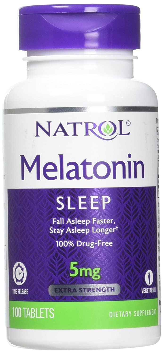 Natrol Melatonin Time Release Tablets, 5mg, 100 Count (Pack of 2)