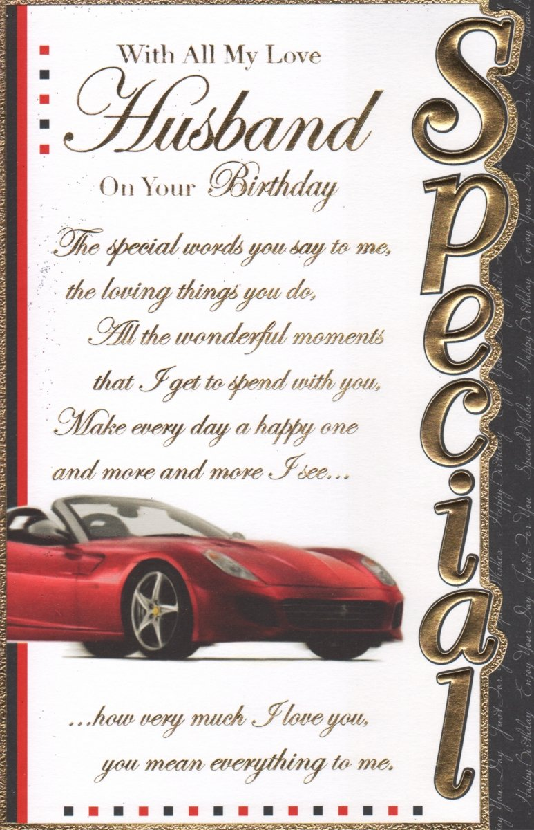 Husband Birthday Card With All My Love Husband On Your Birthday – Birthday Cards for Husband with Love