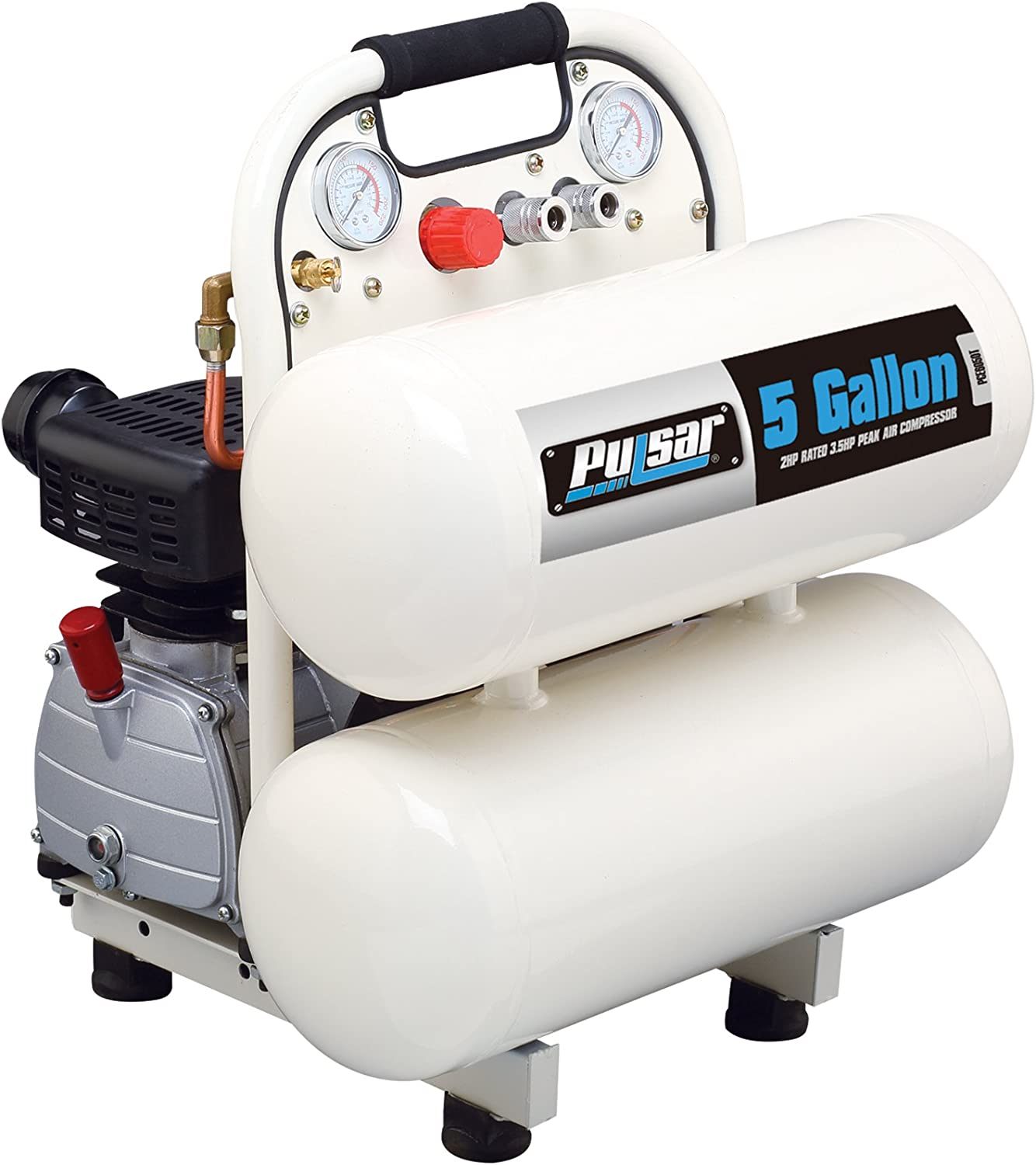 Pulsar PCE6050T Twin Tank Electrical Air Compressor, 5-Gallon