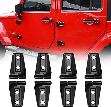 Black Door Hinge Trim Cover Exterior Accessories Fit for 2018-2019 Jeep Wrangler JL /& Unlimited