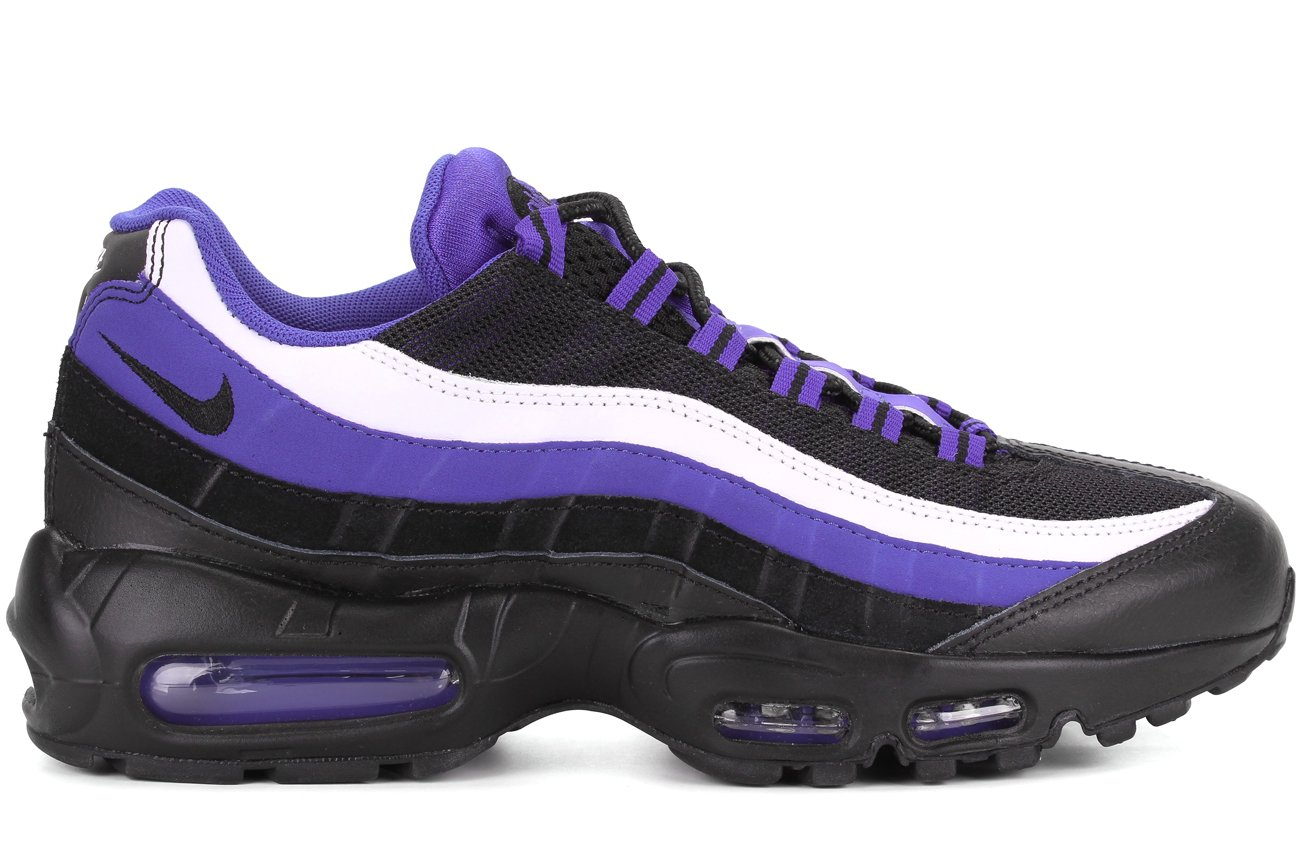 NIKE Men's Air Max 95 Premium Running Shoe B01B36ZO46 10 D(M) US|Persian Violet/Black-white