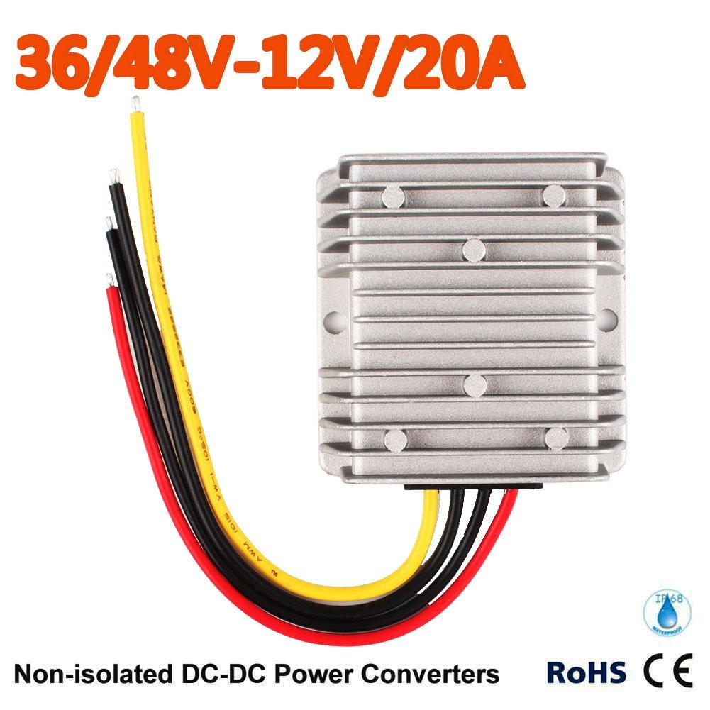 Club Car Precedent Voltage Reducer 36V-48V Volt To 12V 20 Amp 2017 New