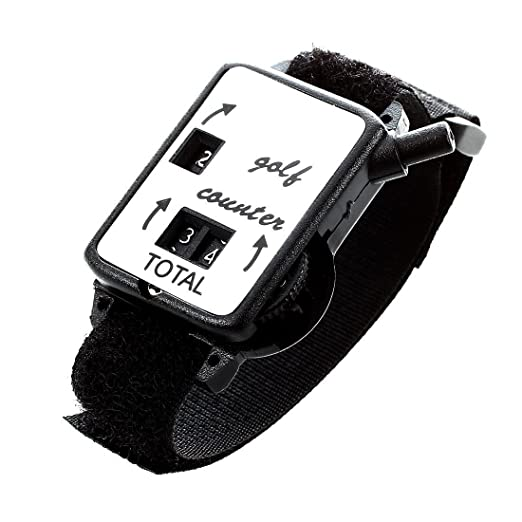 Amazon.com : Counter Watch - TOOGOO(R) Golf Club Stroke Score Keeper Count Putt Shot Counter Watch w/ Wristband Band Black : Sports & Outdoors