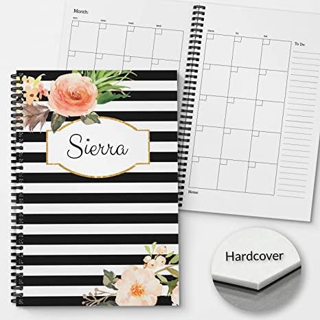 Amazon.com: Hardcover - Planificador y organizador mensual y ...
