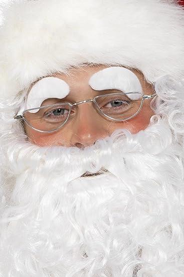 Le Sopracciglia Babbo Natale Bianco Autoadesivo Costume Babbo Natale Accessorio Adulti