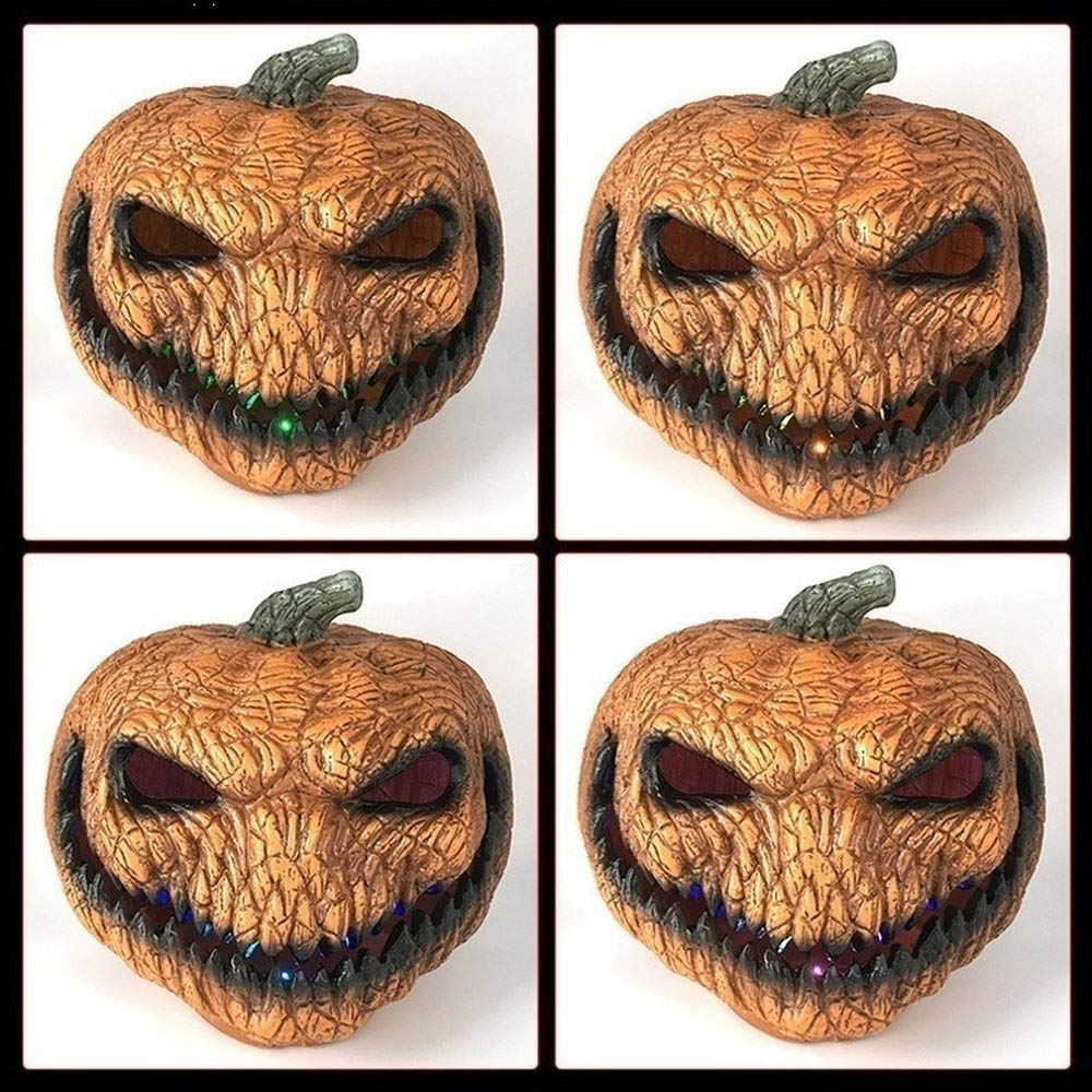 5x3x3CM The New Hot Scary Orange Pumpkin lamp Halloween Decoration with LED Lights