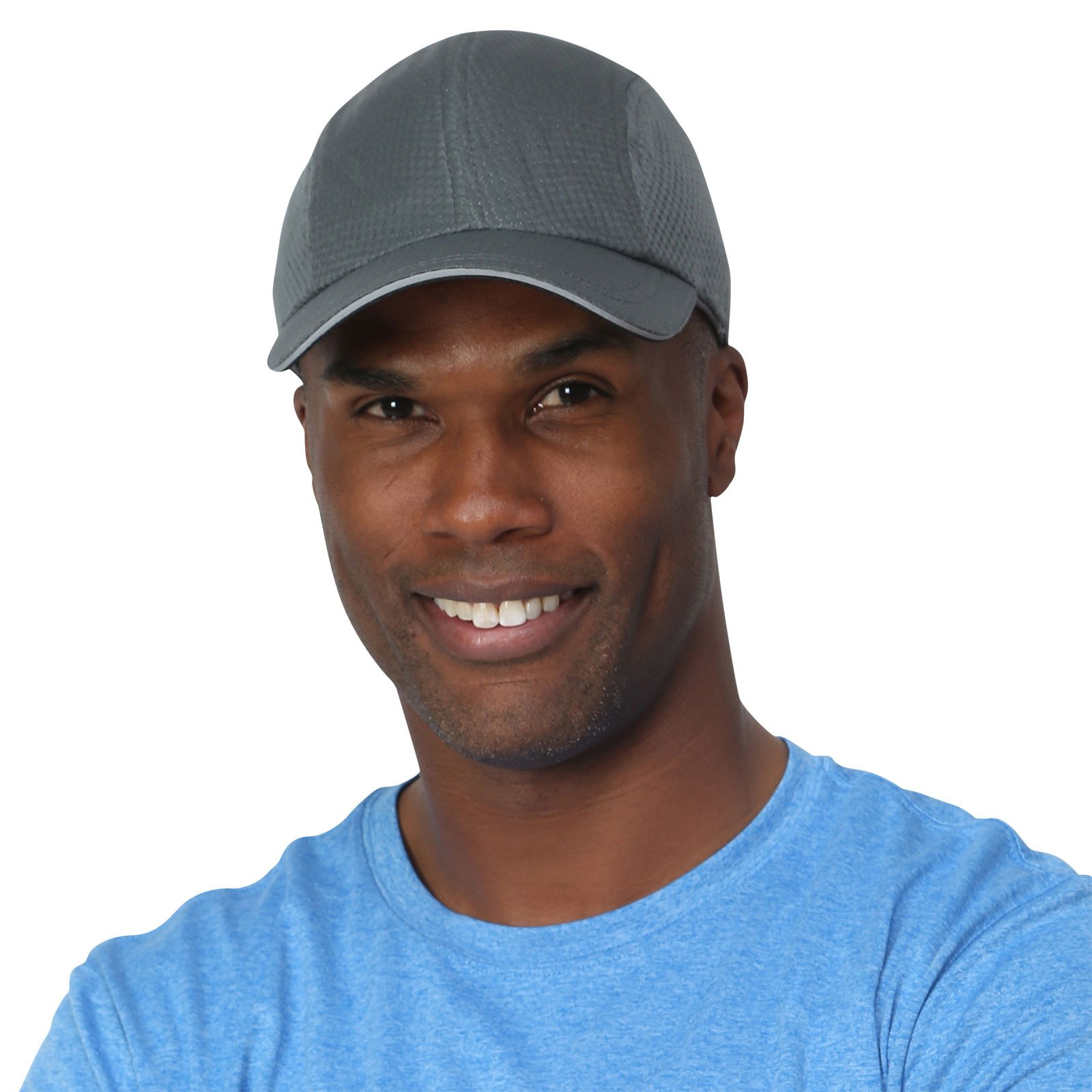 TrailHeads Race Day Performance Running Cap The lightweight, quick dry, sport cap for men – 5 Colors - charcoal