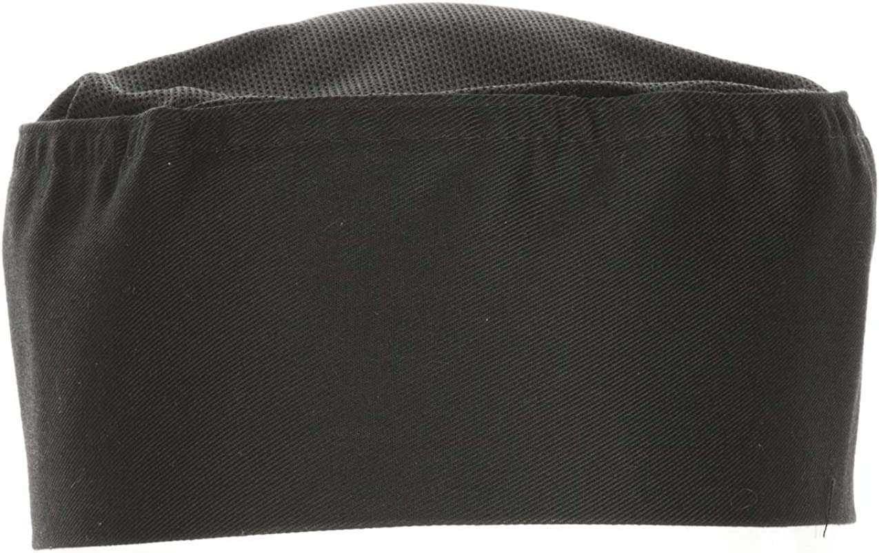 Chef Works unisex adult Cool Vent Chef Beanie apparel accessories, Black, One Size US: Chefs Hats: Clothing