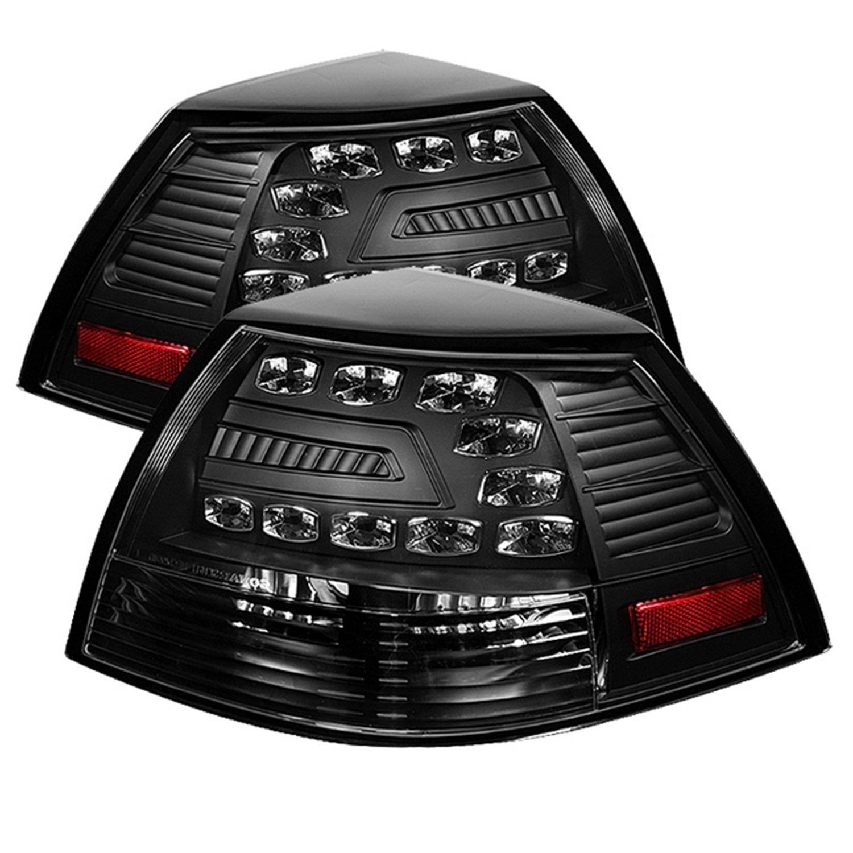 Amazon.com: Spyder Auto ALT-YD-PG808-LED-BK Black LED Tail Light ...