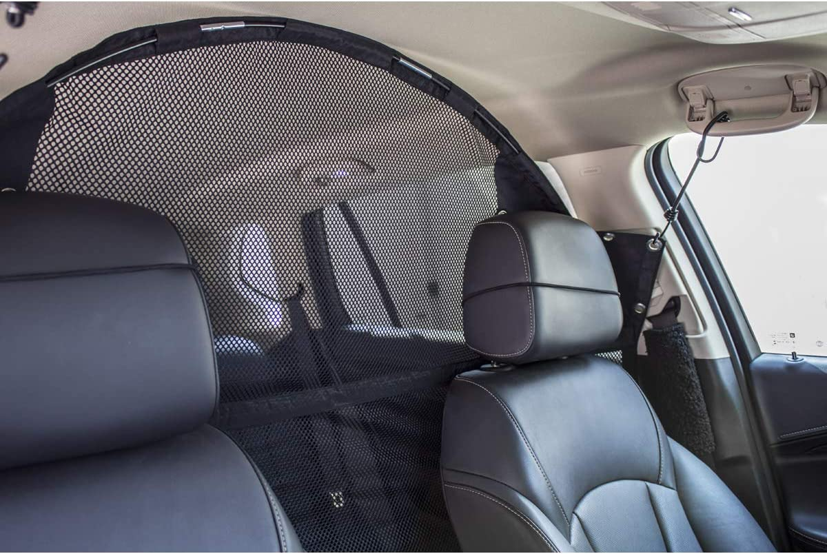 "Travelin K9 Pet Net Vehicle Safety Mesh Dog Barrier - 50"" W for SUV/Car/Truck/Van - Fits Behind Front Seats : Pet Supplies"