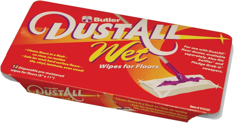 Pack of 12 Butler 413107 Dustall Wet Floor Refill with Tub Fresh Orange Scent