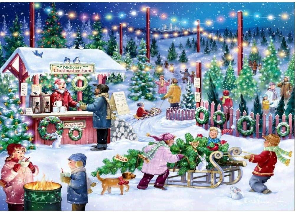 Diamond Painting 5D Christmas Embroidery Art Cross Stitch Xmas Snow Home Decor