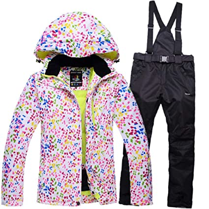 3140c496d9 Z X Ski Jacket - Waterproof Ski Suit Snow Suit Winter Skiing Keep Warm Women s  Ski Jacket and Pants Set-Suitable for Snowboarding