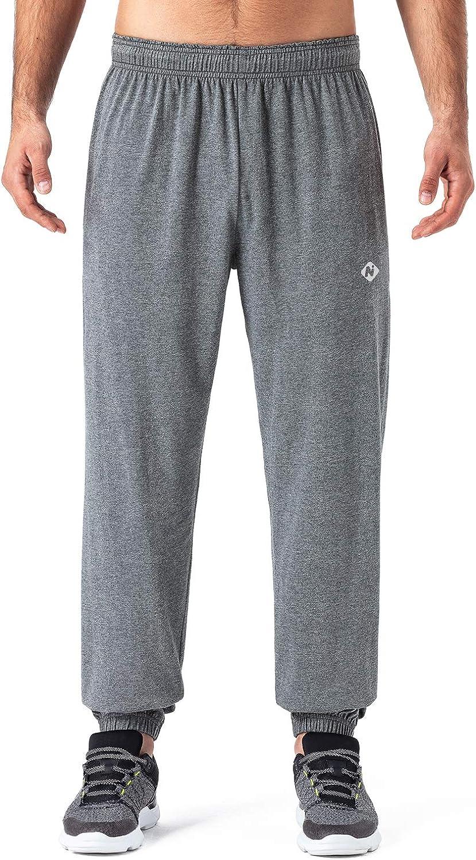 Akalnny Herren Jogginghose Baumwolle Lange Trainingshose Sweathose Atmungsaktiv Sporthose Weich Freizeithosen mit Gummizug und Taschen Fitness Pyjama Hose