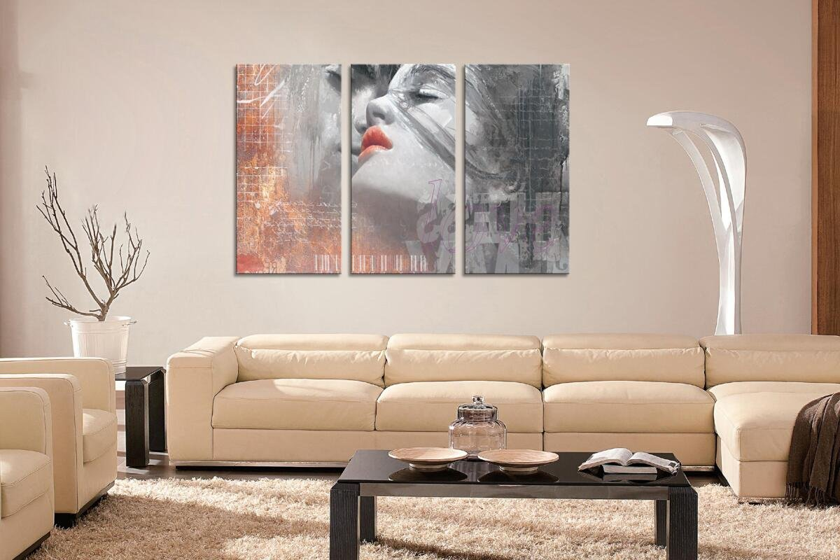 HLJ ART Red Lips Love Kissing Couples Picture Print Art Modern Giclee Canvas Artwork Stretched and Framed, Ready to Hang by HLJ ART (Image #8)