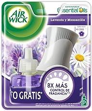 Air Wick Aromatizante de Ambiente Continuo, Aparato Eléctrico y Repuesto, Lavanda Manzanilla, 21ml