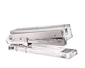 Acrylic & Silver Stapler by OfficeGoods - A Classic Modern Design to Brighten Up Your Desk - Elegant Office Desk Accessory