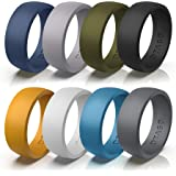 OTAGO Silicone Rings Wedding Bands for Women Men,8 Colorful Rings Soft and Safe for Sports Housework,Comfortable Fit,Fashion,