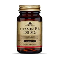 Solgar Vitamin B6 100 mg, 100 Tablets - Supports Energy Metabolism, Heart Health...