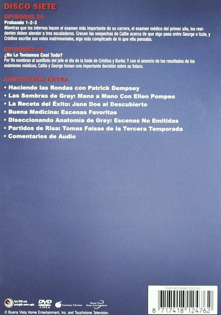 Amazon.com: Anatomia De Grey - Temporada 3 (Import Movie) (European Format - Zone 2) (2007) Patrick Dempsey; Katherine: Movies & TV