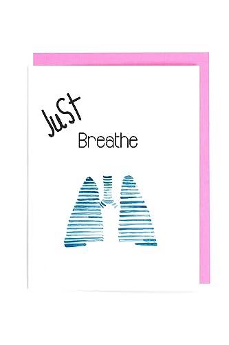 Amazon.com: Just Breath Lung Cancer Awareness Yoga Card ...