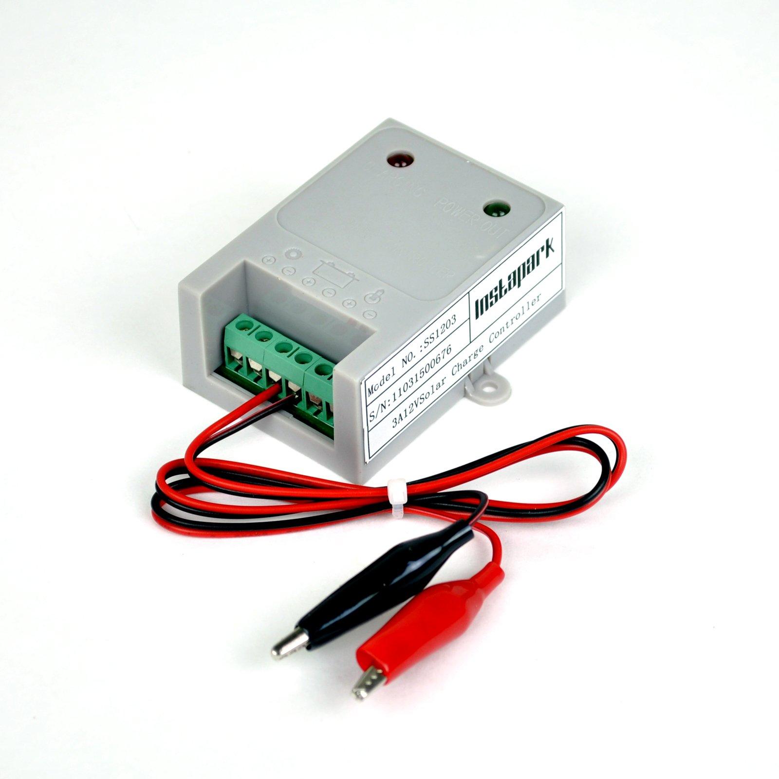 Instapark SS1203 3Amp Solar Power Charge Controller, 45 Watt at 12V