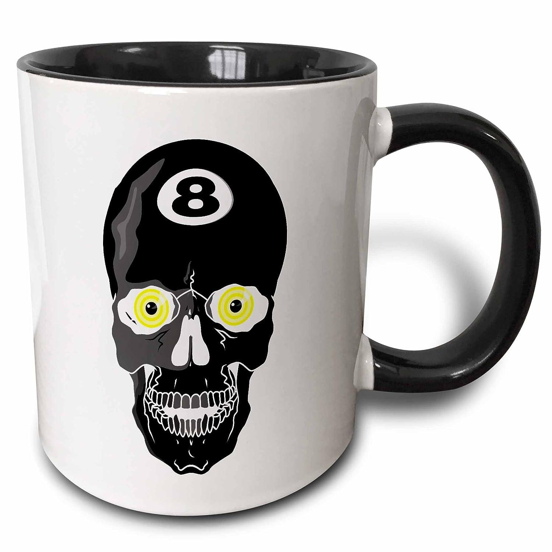 3dRose 116301/_4 Mug 11 oz Black//White