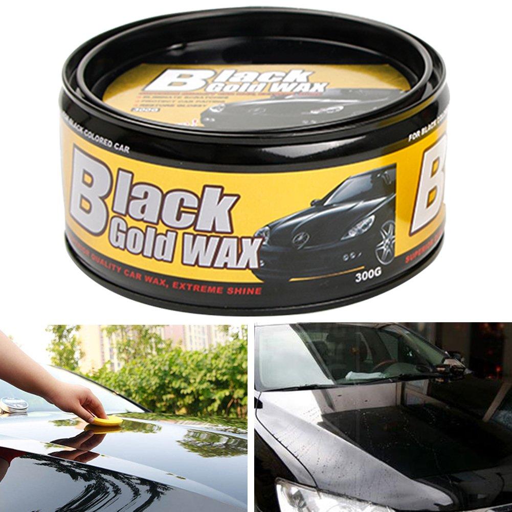 Cire pour voiture, Noir Ultra brillant rigide Pâte Cire de carnauba haute qualité Pure Cire de carnauba haute brillance instantanée Rayures réparation de perles, peinture à l'eau les taches retirer Behavetw