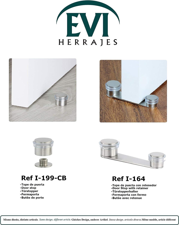 EVI Herrajes I-164-TAD Tope, Retenedor, Adhesivo, de Acero INOX ...