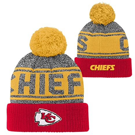 Image Unavailable. Image not available for. Color  Outerstuff Kansas City  Chiefs Youth NFL Legacy Cuffed Knit Hat ... cc8978365fe6