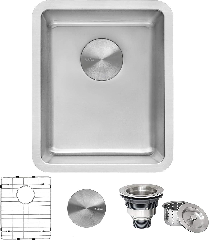 Ruvati 15-inch Undermount Bar Prep Kitchen Sink 16 Gauge Stainless Steel Single Bowl - RVM5815