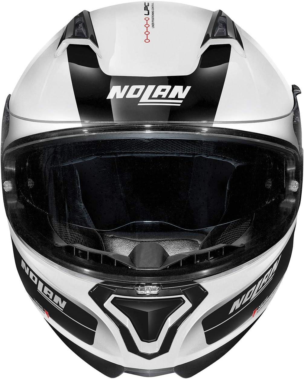 Nolan Casque N87 P Distinctif N-C M/étal Blanc M