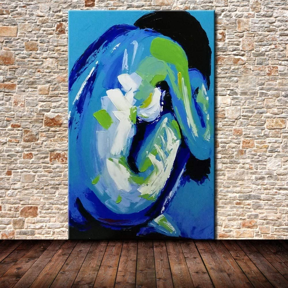 Xiaoxinyuan 100 Hand Painted Oil Painting Female Body Art Abstract Art Modern Wall Picture For Room Home Decor 30 60cm Amazon Co Uk Kitchen Home