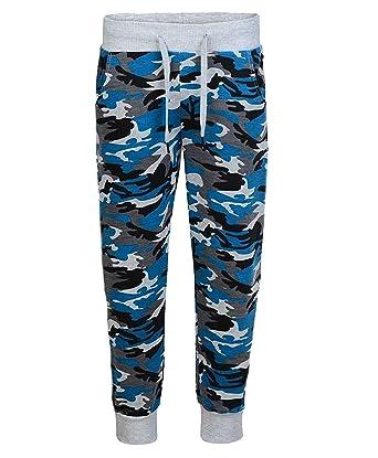 df458baf9a89d LotMart Enfants Camouflage Bas Survêtement Garçon Fille Jogging Pantalon  Survêtement - Camouflage Bleu, 3-4 Ans: Amazon.fr: Vêtements et accessoires