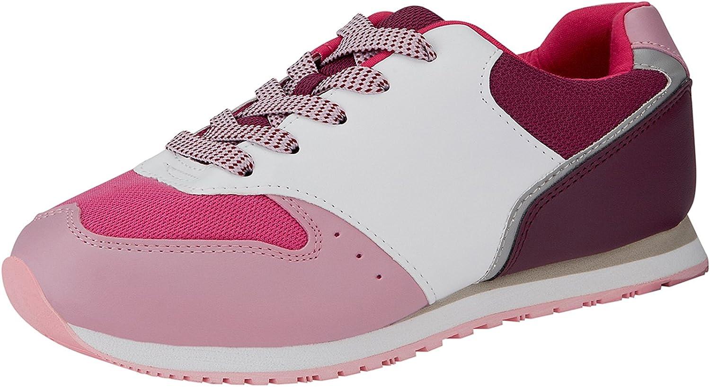 oodji Ultra Mujer Zapatillas Materiales Combinados: Amazon.es ...