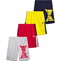 TapouT Boys' Athletic Shorts - Active Performance Basketball Running Shorts (4 Pack)