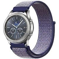 FINTIE Cinturino per Samsung Galaxy Watch 46mm/Gear S3 Frontier/S3 Classic/Huawei Watch 2 Classic [Grande], 22 mm Leggero Traspirante Cinturini di Ricambio in Nylon con Chiusura Regolabile, Blu