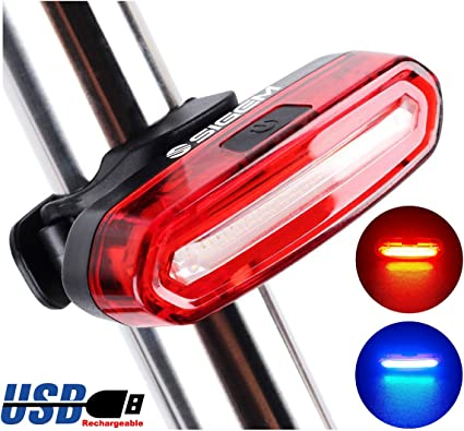 Ultra Bright 4 Modes 5 LED Bike Safety Warning Rear Tail Light Back Lamp US