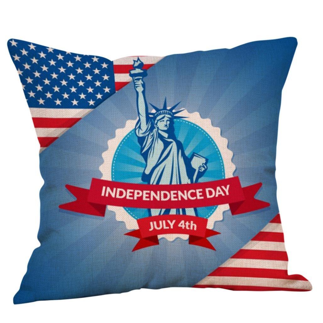 Amazon.com: sukeq Happy día de la independencia fundas de ...